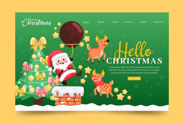 Hand drawn christmas landing page