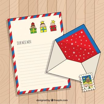 손으로 그린 크리스마스 편지 서식 파일