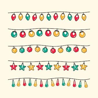 手描きのクリスマスライトコレクション