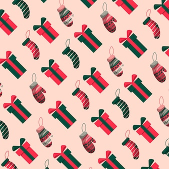 Hand drawn christmas pattern design background. vector illustration.