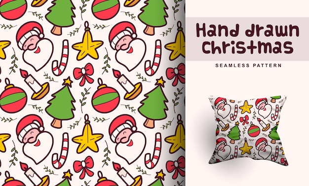 Hand drawn christmas pattern design