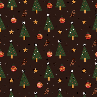 Hand drawn christmas pattern for wrapping paper
