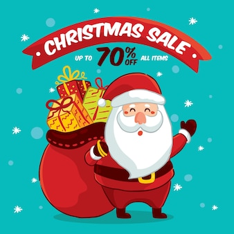 Hand drawn christmas sale concept