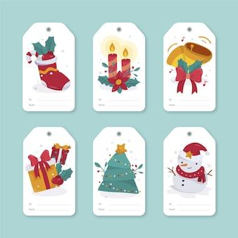 Hand drawn christmas sale tag collection