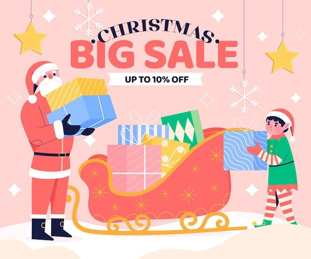 Рождественские продажи рисованной
