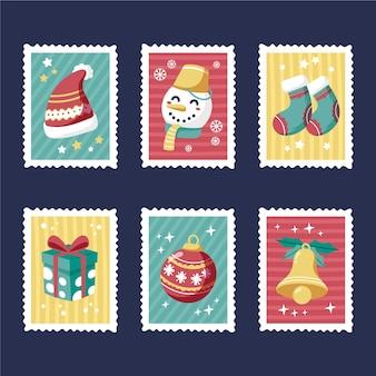 手描きのクリスマス切手コレクション