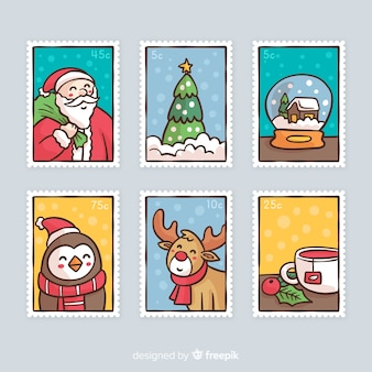 Hand drawn christmas stamp