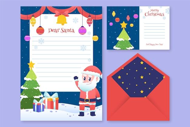 手描きのクリスマス文房具テンプレート