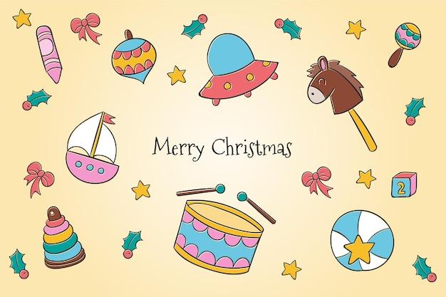 Рождественские игрушки фон