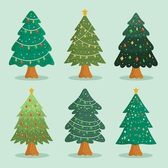 손으로 그린 크리스마스 트리 컬렉션
