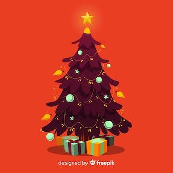 Hand drawn christmas tree illustration