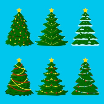 Hand drawn christmas tree pack