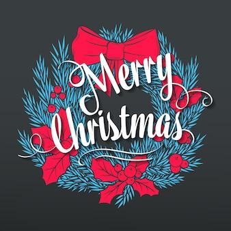 手描きのクリスマス。