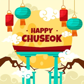Hand drawn chuseok concept