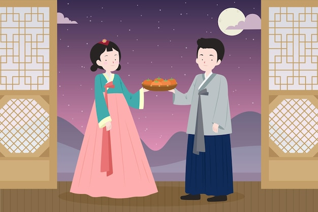 Hand-drawn chuseok