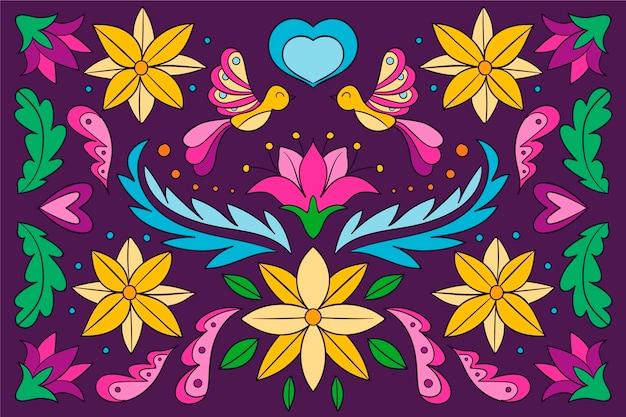 Hand drawn cinco de mayo background