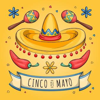Ручной обращается концепция синко де майо