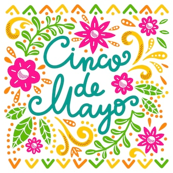 Hand drawn cinco de mayo concept