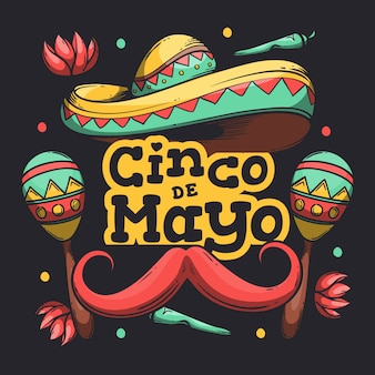 Hand-drawn cinco de mayo event