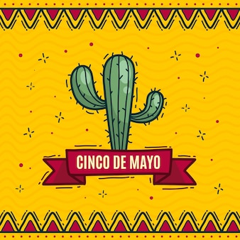 Hand drawn cinco de mayo illustration