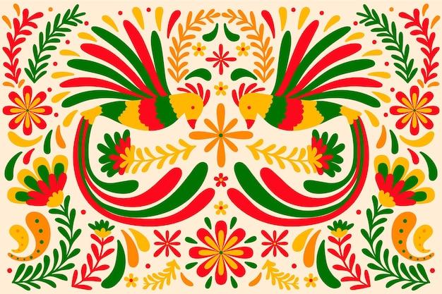 Hand drawn cinco de mayo mexican background