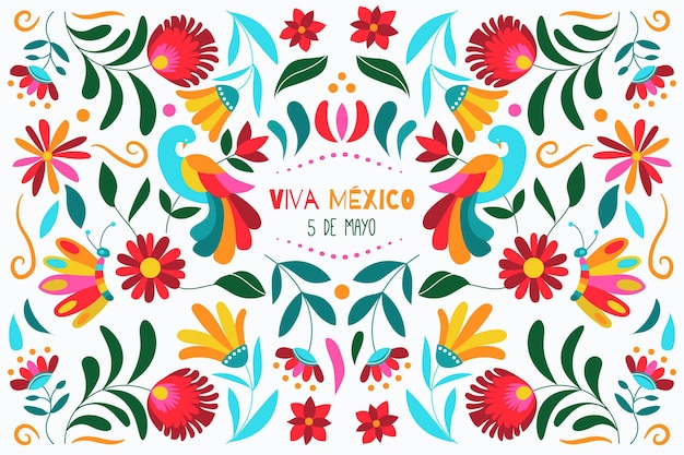 Hand drawn cinco de mayo mexican background