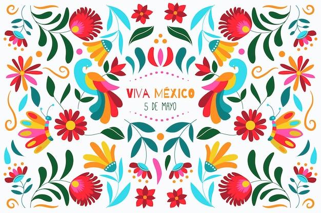 手描きシンコデマヨメキシコの背景