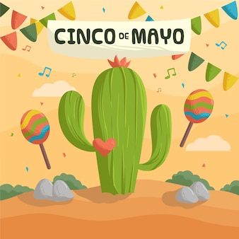 Hand drawn cinco de mayo