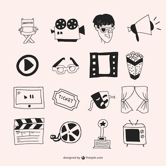 Hand drawn cinema elements