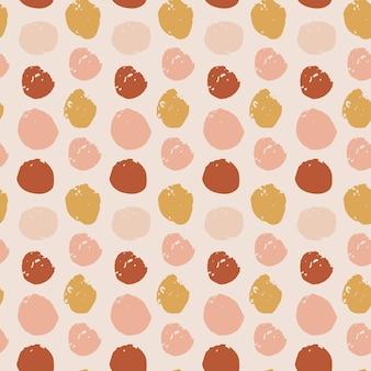 브러시 획의 손으로 그린된 원형 패턴입니다. 벡터 원활한 패턴 질감 모양입니다. boho 색상에서 추상적인 배경입니다. 장식용 프린트