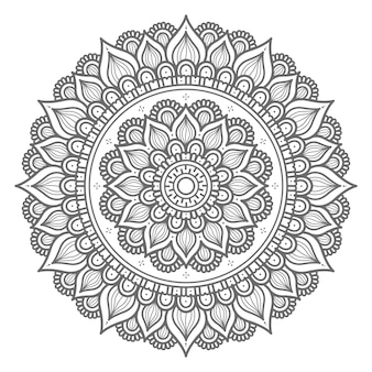 Hand drawn circle style mandala illustration