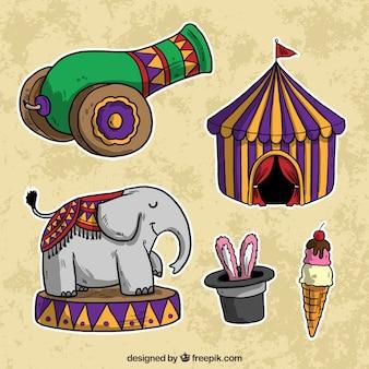 Ручной обращается элементы цирка пакет