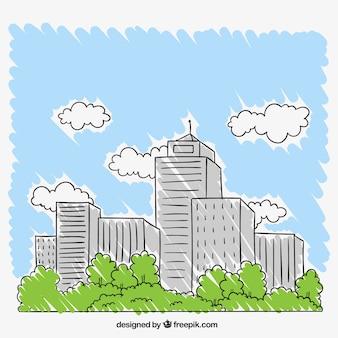 Рисованной город