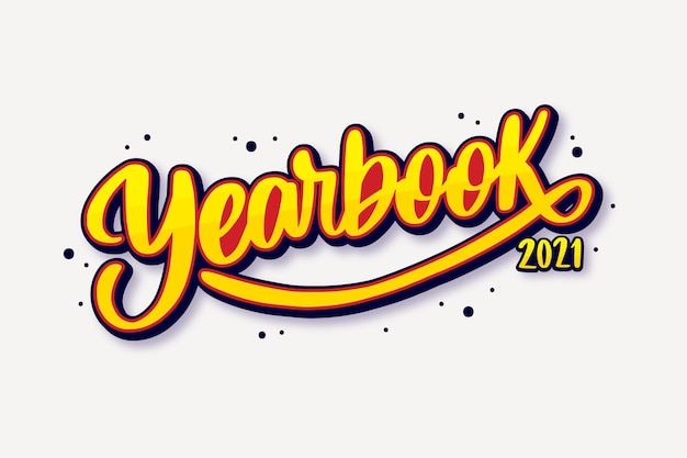 Hand drawn class of 2021 lettering