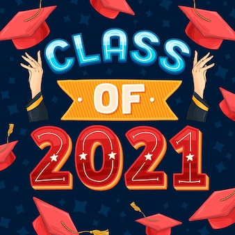 Classe disegnata a mano di lettere 2021