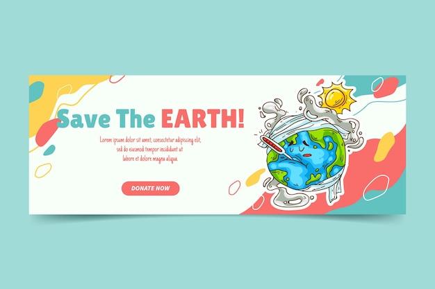 Copertina di facebook sui cambiamenti climatici disegnata a mano