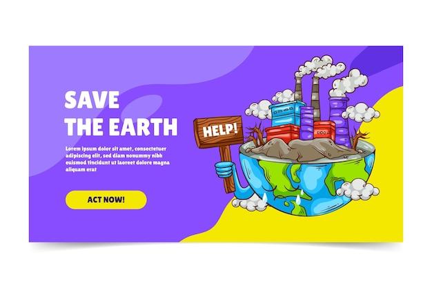 Post di facebook sul cambiamento climatico disegnato a mano