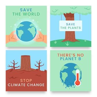 手描きの気候変動instagramの投稿