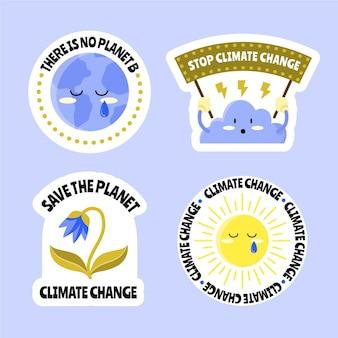 手描きの気候変動ラベル