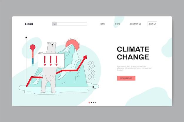 手描きの気候変動ランディングページテンプレート