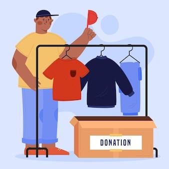Концепция пожертвования одежды