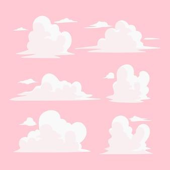 手描きの雲のコレクション