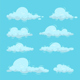 Hand drawn cloud in the sky collection
