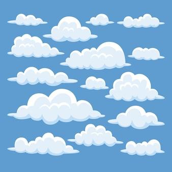 Коллекция рисованной облака
