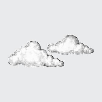 Иллюстрация рисованной облачности