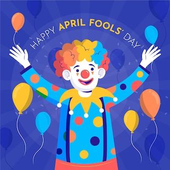 Hand drawn clown april fools' day
