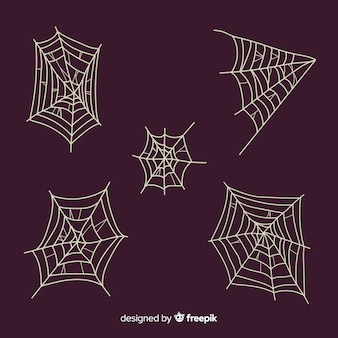 Hand drawn cobweb collection