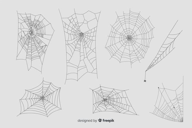 Hand drawn cobweb collection