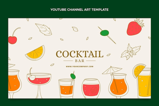 Hand drawn cocktail bar youtube channel