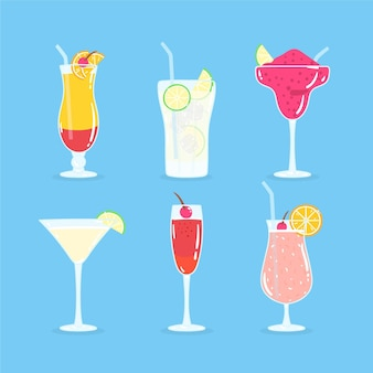 Hand-drawn cocktail collection